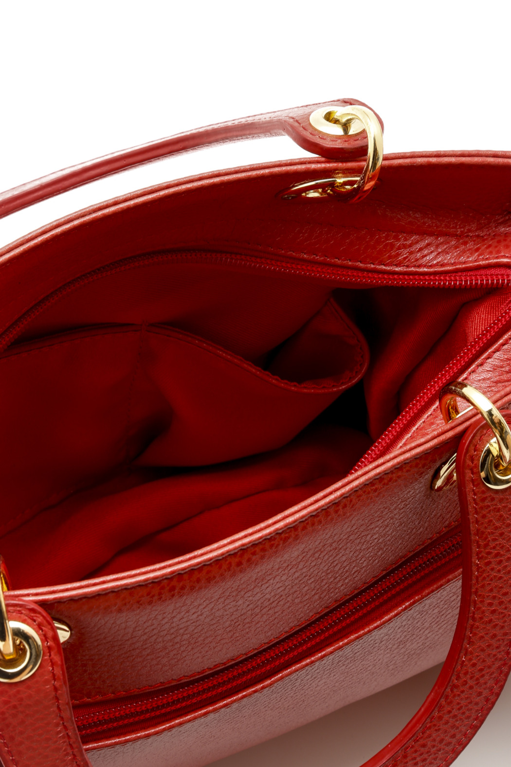 Passports Red Pebble-Leather Bag - Front Full Image