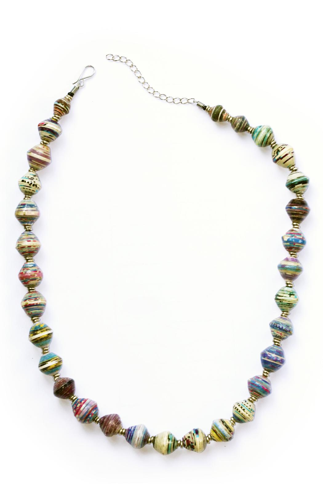 Acacia Creations Recycled Paper Necklace - Main Image