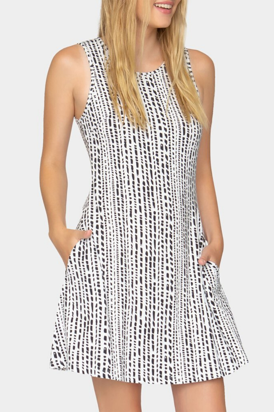 Tart Collections Acadia Dash Stripe Dress - Side Cropped Image