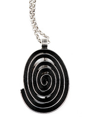 Alisha D Large Oval Pendant Necklace - Front full body