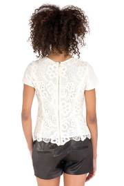 Rebecca Taylor Embroidered Lace Blouse - Back cropped