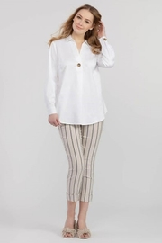 Tribal  Accent Button Stretch Shirt - Product Mini Image