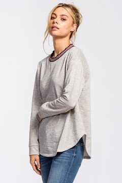 Shoptiques Product: Accent Collar Pullover