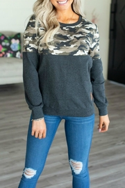Ampersand Accent Pullover Camo - Product Mini Image