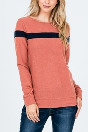 Hailey & Co Accent Stripe Top - Product Mini Image