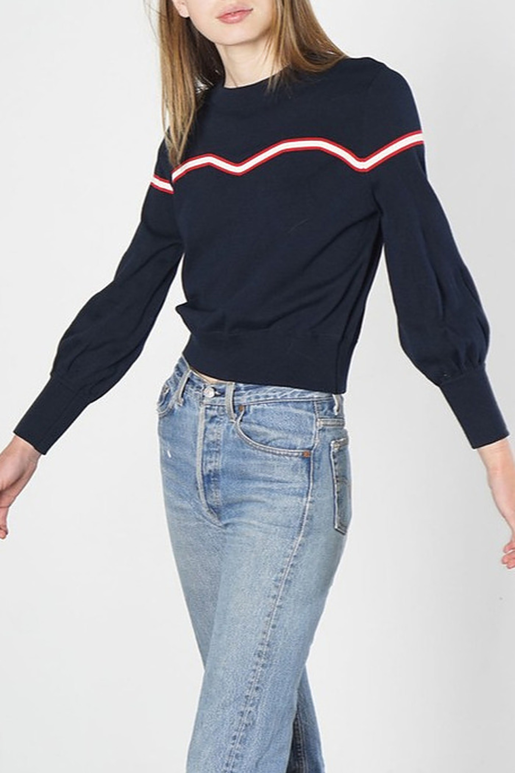 Mod Ref Accent Striped Sweater - Main Image