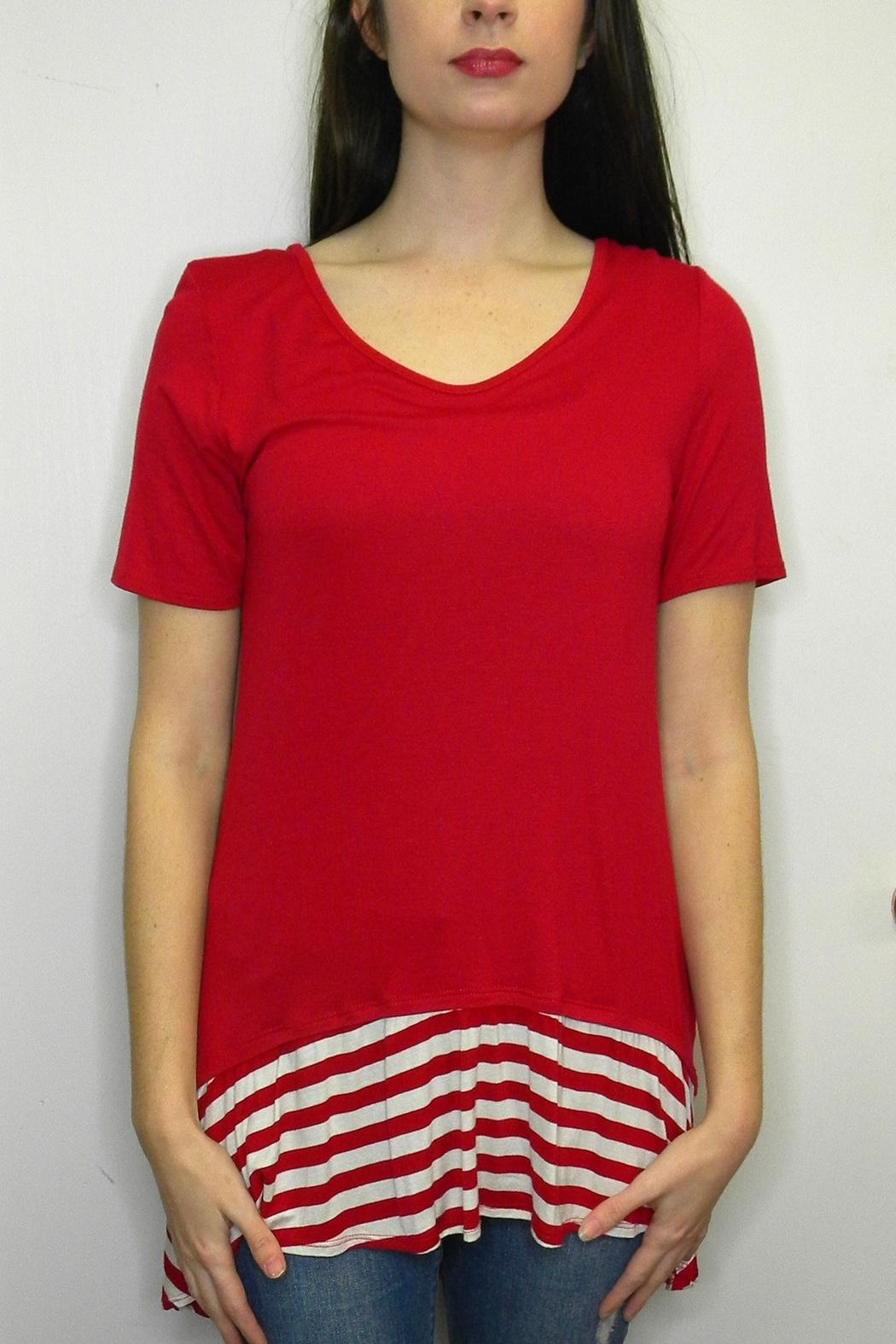Accent Accessories Cute Stripes Tunic - Front Cropped Image