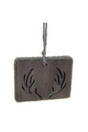 Accents de Ville Wooden Antler Ornament - Front cropped