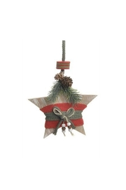 Accents de Ville Wooden Star Ornament - Front cropped