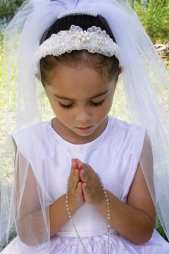 Accessories by Adriana Lace/pearl Headband Veil - Product List Image