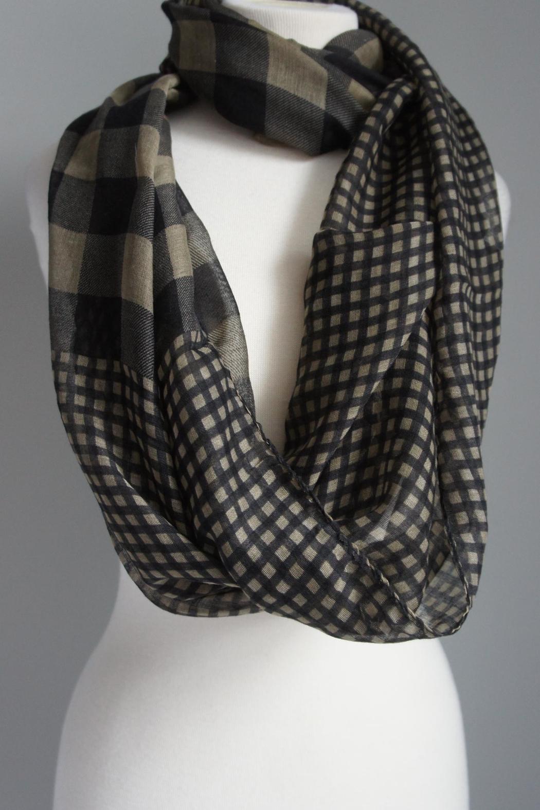 Accessory Concierge Checkered Scarf - Front Cropped Image