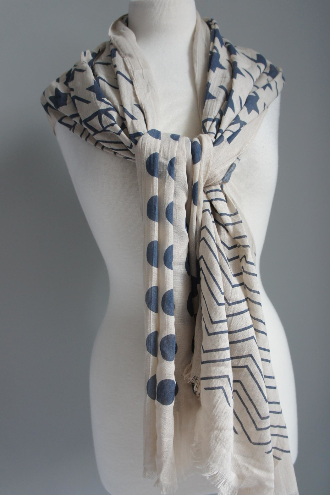 Accessory Concierge Chevron-Dots Scarf - Front Cropped Image