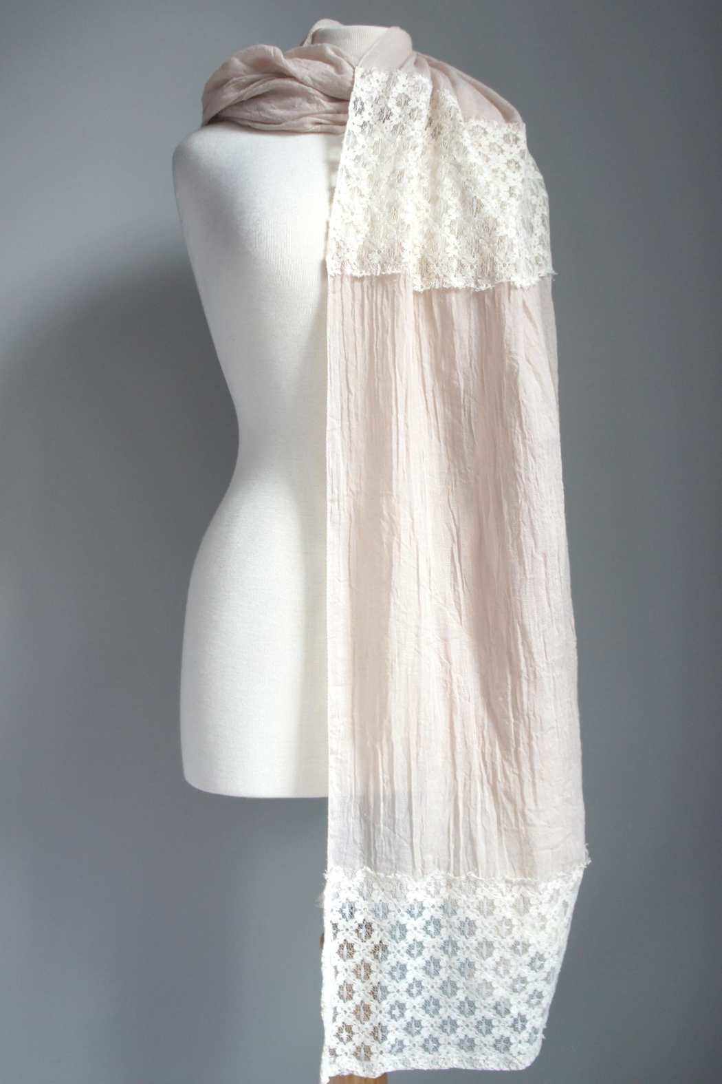 Accessory Concierge Lace Accent Scarf - Main Image