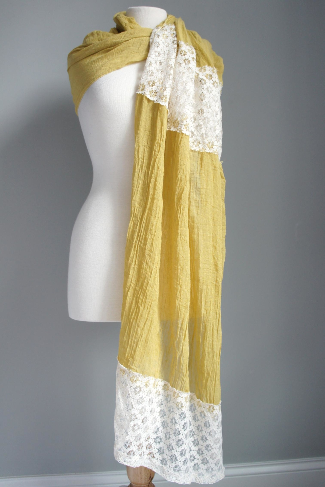 Accessory Concierge Lace Accent Scarf - Front Cropped Image