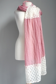 Accessory Concierge Lace Accent Scarf - Front cropped