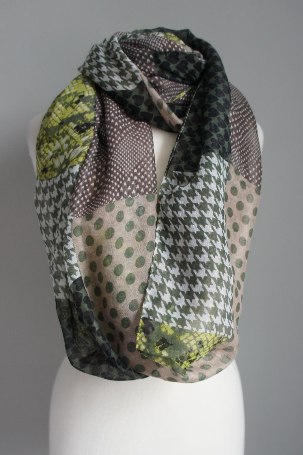 Accessory Concierge Patch-Pattern Infinity Scarfs - Front Cropped Image