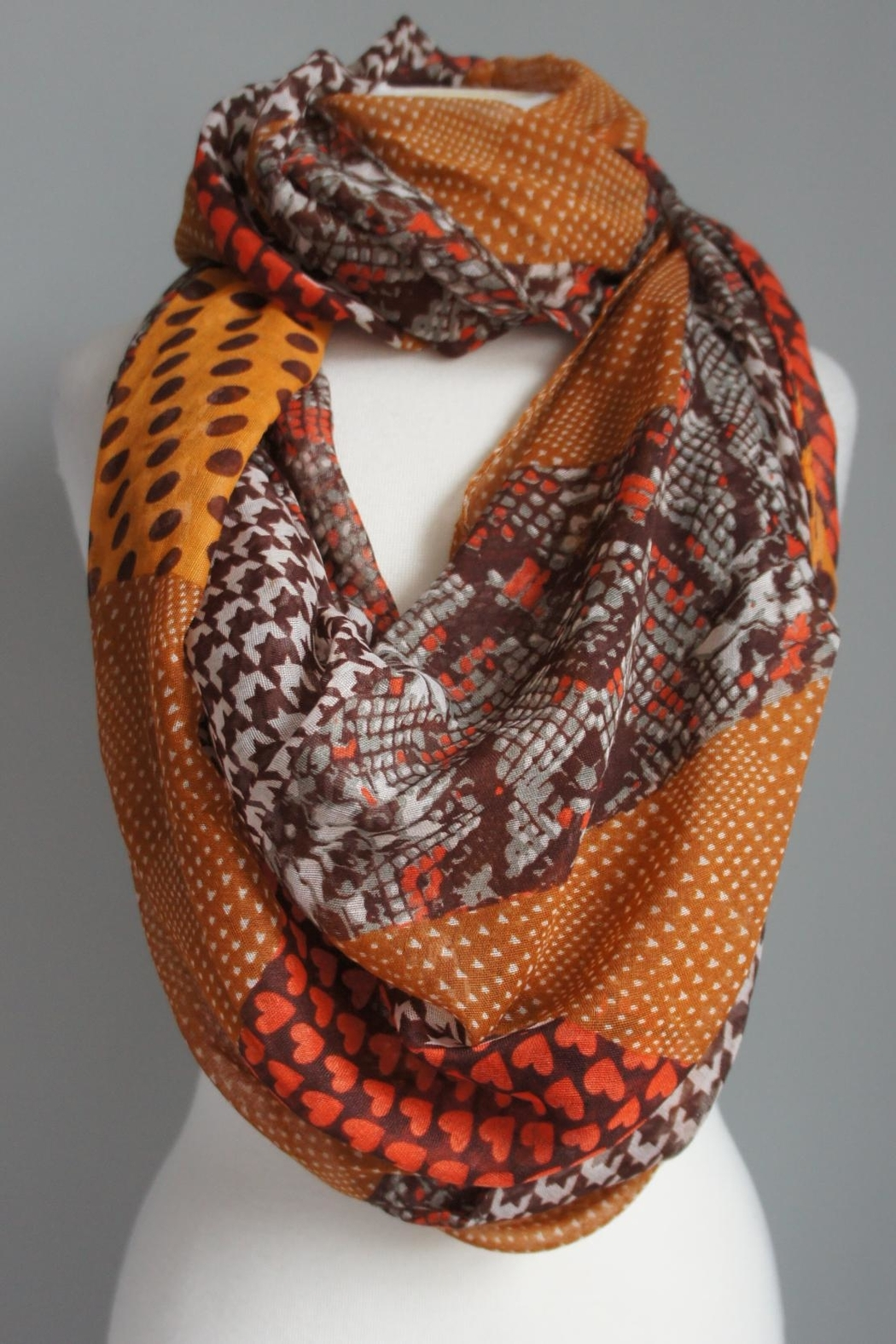 Accessory Concierge Patch-Pattern Infinity Scarfs - Main Image