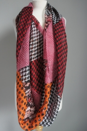 Accessory Concierge Patch-Pattern Infinity Scarfs - Front cropped