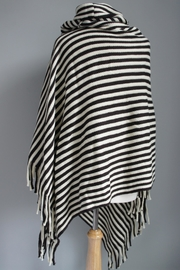 Accessory Concierge Striped Fringed Poncho - Product Mini Image