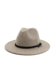 accity Black Pointed Belt Casual Panama Hat - Front cropped