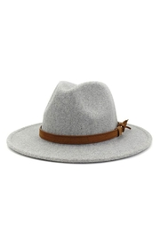 accity Brown Casual Belt Trendy Panama Hat - Front cropped