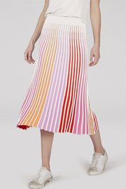 525 America ACCORDION PLEAT STRIPE MAXI SKIRT - Front cropped
