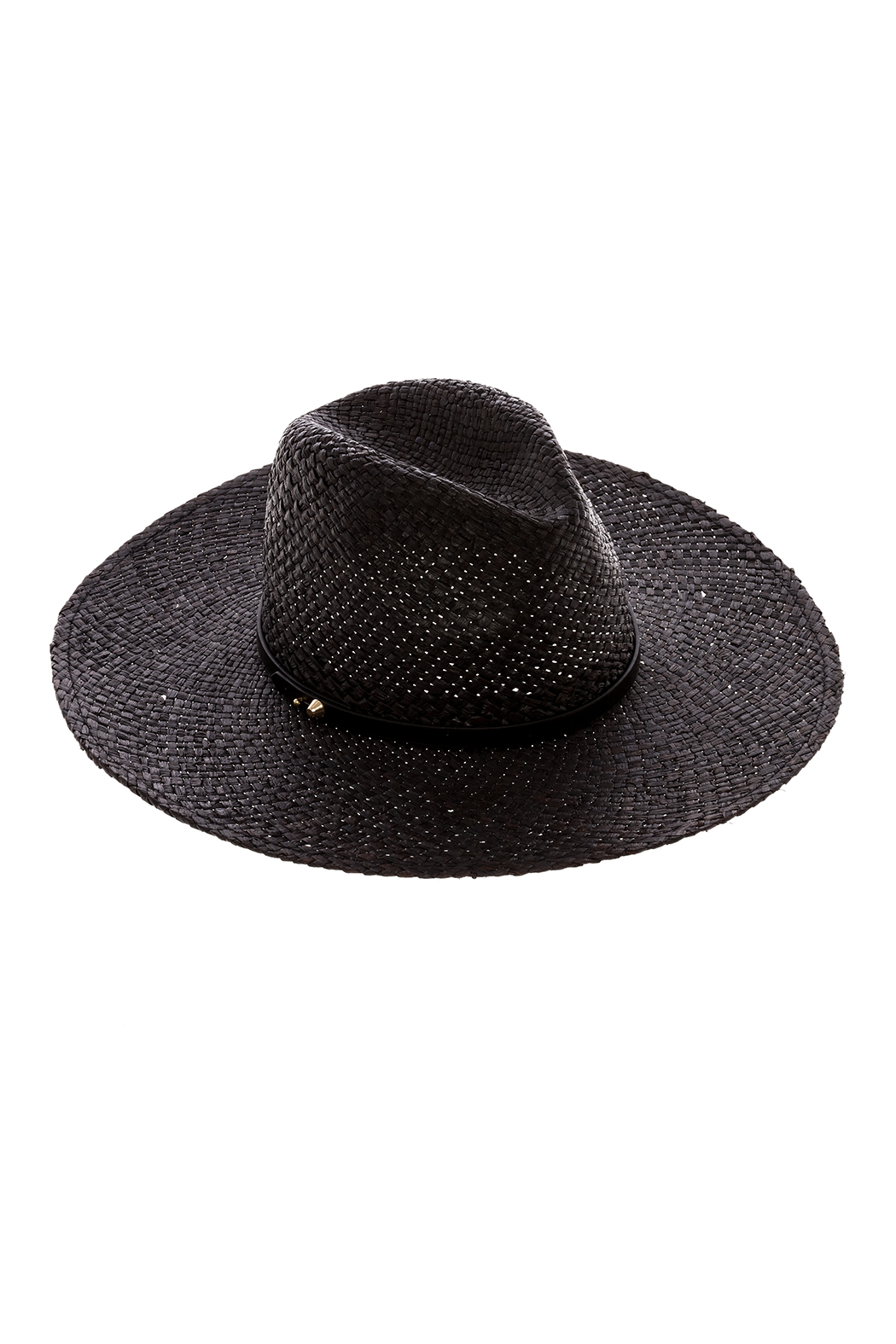 Ace of Something Black Straw Hat - Front Cropped Image