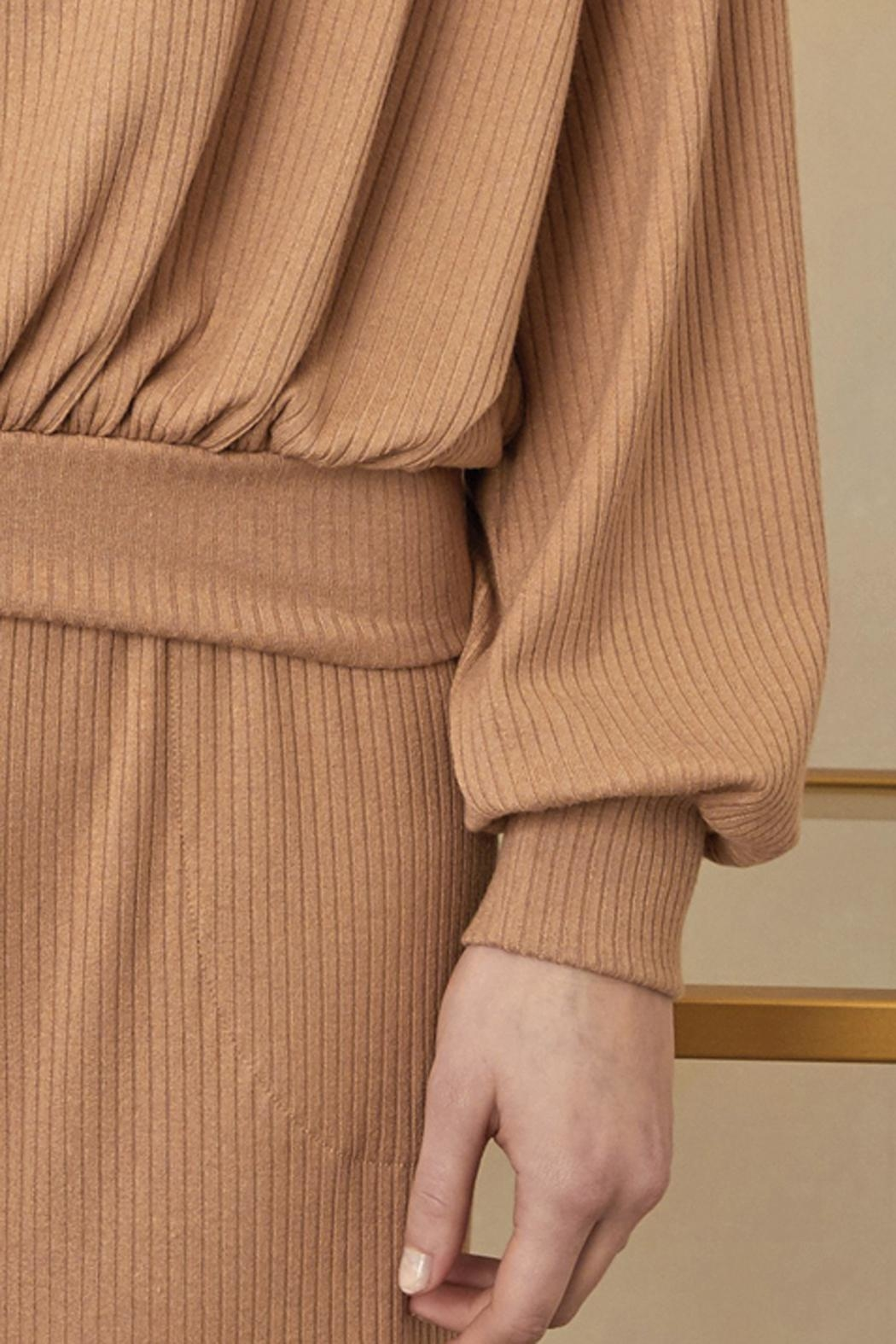 Sarah Liller Giorgia Ribbed Sweater - Back Cropped Image