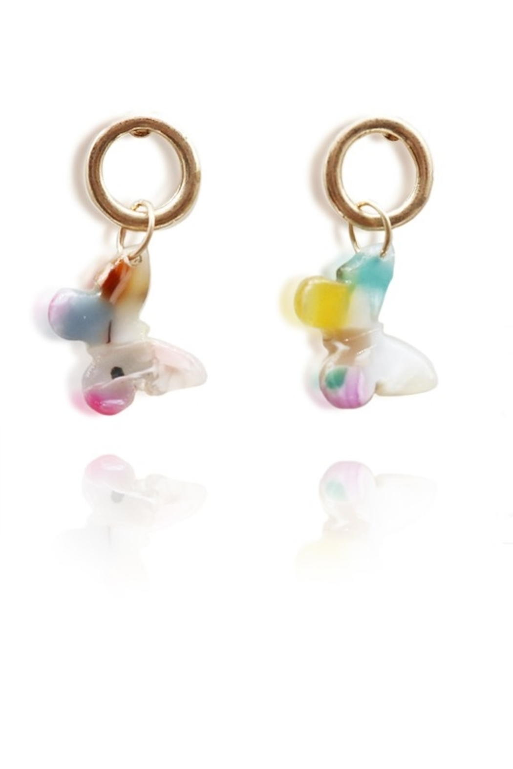 suzie q usa  Acetate Butterfly Earrings - Main Image