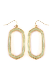 Riah Fashion Acetate-Filled-Hexagonal Frame-Drop Earring - Product Mini Image