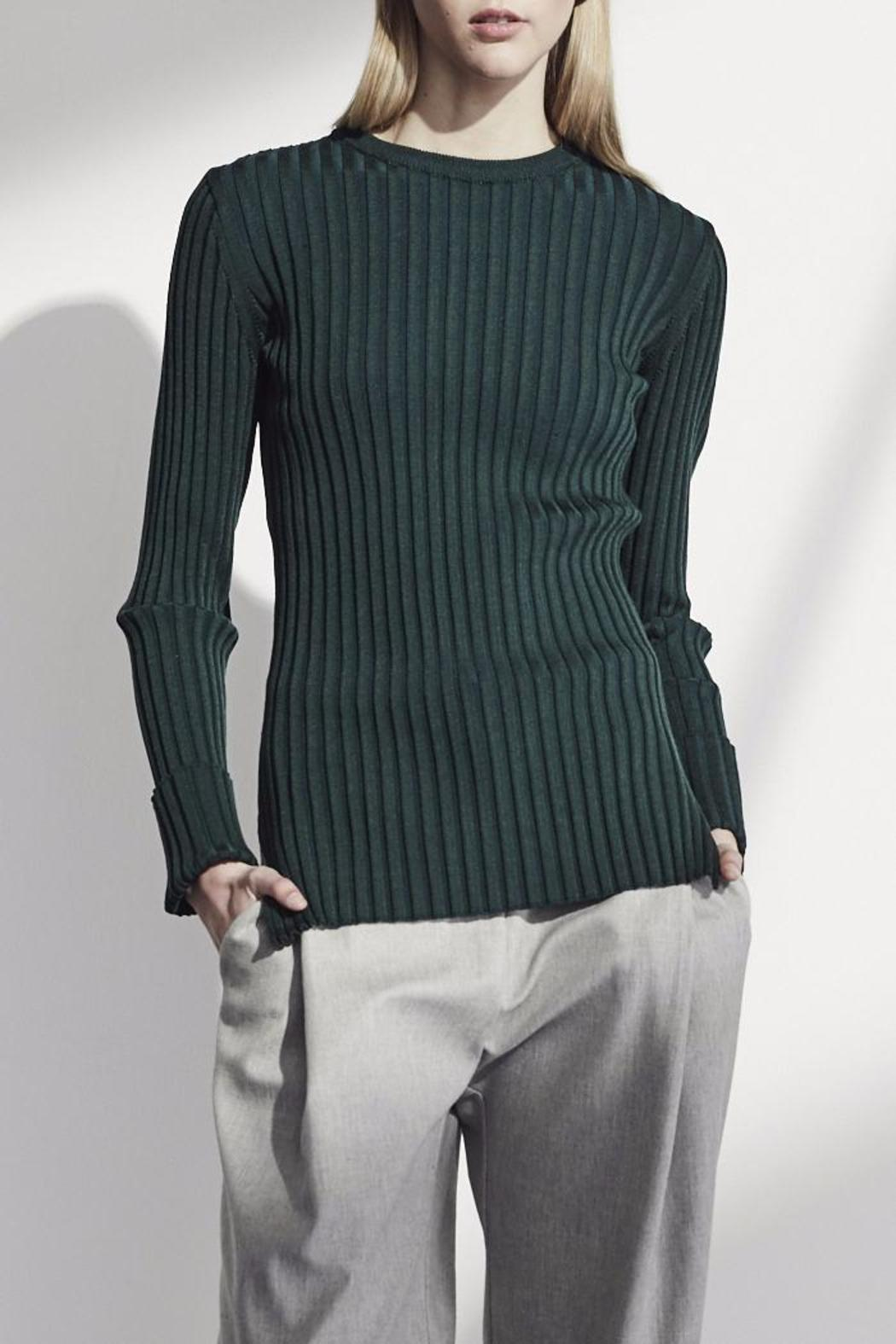Achro Green Ribbed Sweater from Iowa City by Sicily Boutique ...