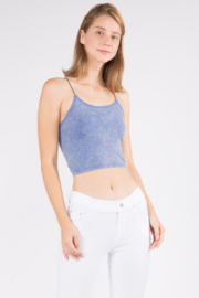 Yelete Acid Wash Basic Cropped Cami - Front cropped