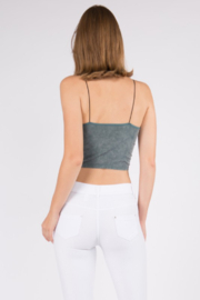 Yelete Acid Wash Basic Cropped Cami - Side cropped