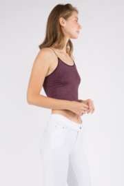 Yelete Acid Wash Basic Cropped Cami - Front full body