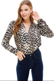 ACOA Animal Print Bodysuit - Front cropped
