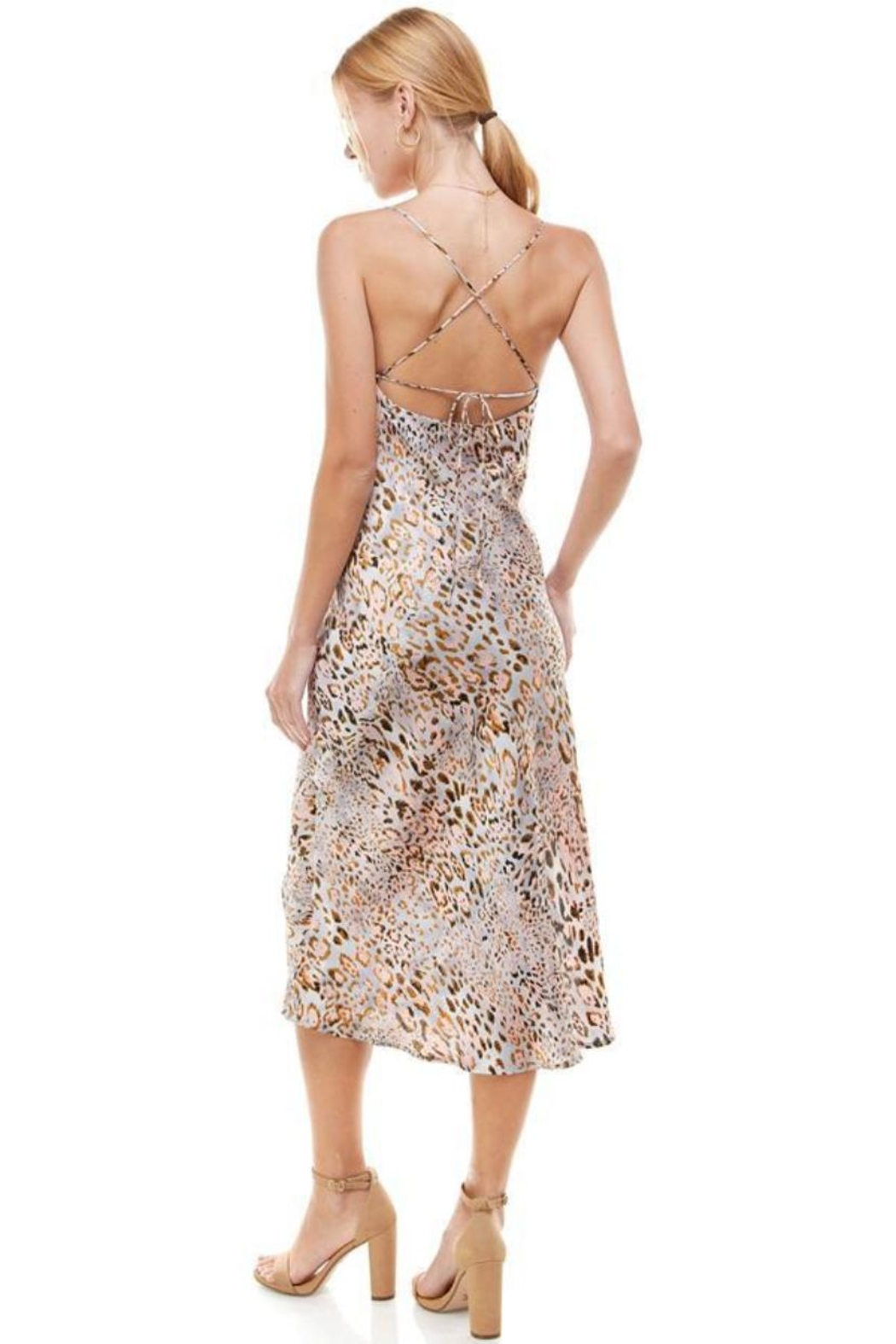 ACOA Animal Print Midi - Side Cropped Image