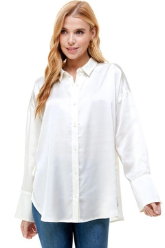 ACOA Back Drawstring Waist Detail Oversized Shirt - Alternate List Image