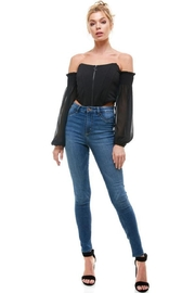 ACOA Cold-Shoulder Bustier Top - Product Mini Image