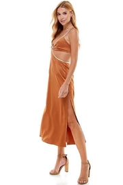 ACOA Color-Block Cut-Out Dress - Front full body