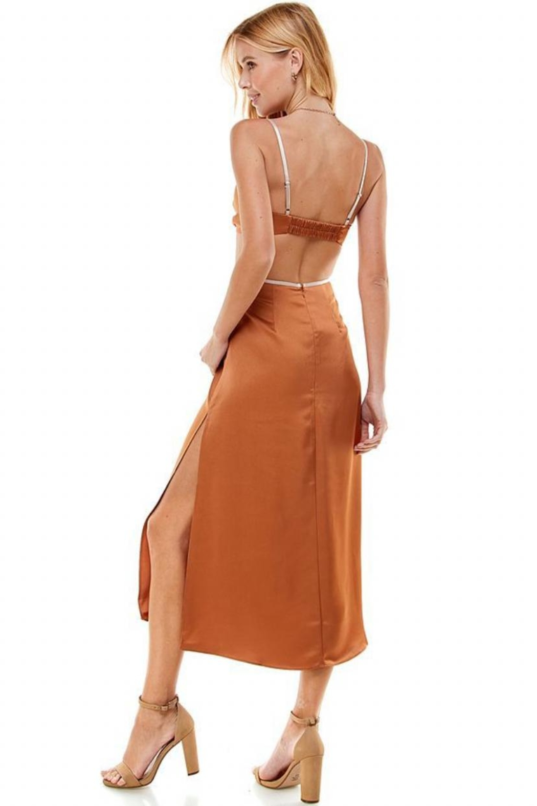 ACOA Color-Block Cut-Out Dress - Side Cropped Image