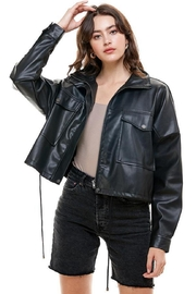 ACOA Crop Pu Jacket - Product Mini Image