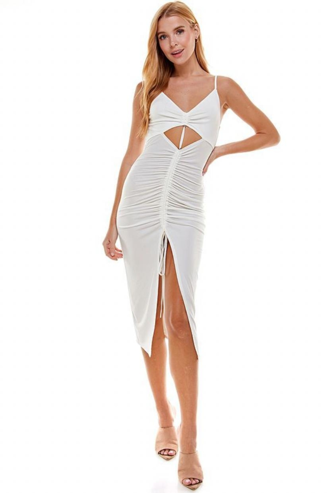 ACOA Cut-Out Ruched Dress - Main Image