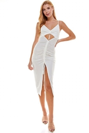 ACOA Cut-Out Ruched Dress - Product Mini Image