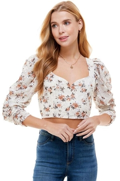 ACOA Floral Crop Top - Product List Image
