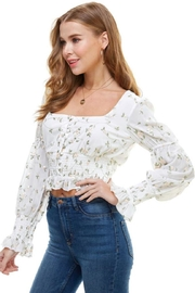 ACOA Floral Embroidered Top - Product Mini Image