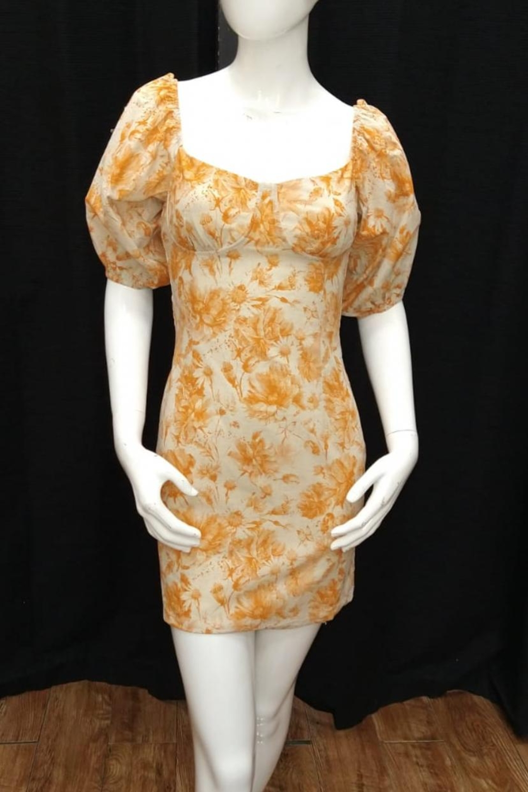 ACOA Floral Mini Dress - Front Cropped Image