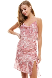 ACOA Floral Ruched Dress - Front full body