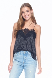ACOA Lace Trim Top - Front cropped