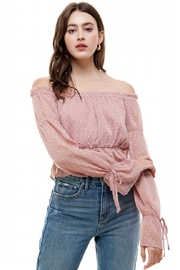 ACOA Off-Shoulder Crop Top - Product Mini Image