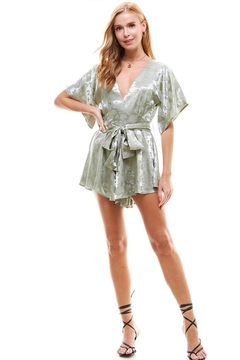 Shoptiques Product: Open-Back Satin Romper